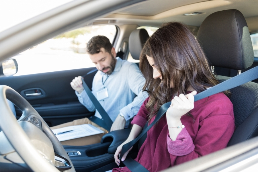 wearing car seat belts