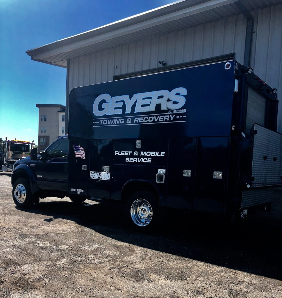 Geyers towing and recovery service vehicle