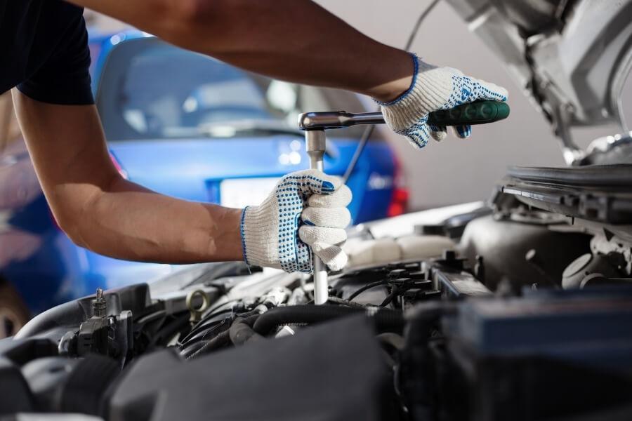 annual car maintenance at car shop
