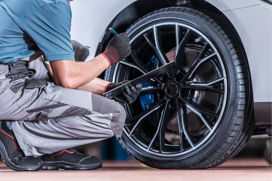 car tire inspection for better gas mileage